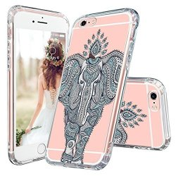 Mosnovo Iphone 6s Case Iphone 6 Cover Mint Henna Elephant Clear