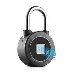 Omaggie Fingerprint Padlock Bluetooth Remote Lock Smart Biometric Thumbprint Keyless Lock For Locker Gym Door Cabinet Suitcase Backpack
