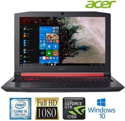 Acer Nitro 5 AN515 Laptop: Core I5-8300H 15.6INCH Full HD Ips Display 8GB RAM 1TB Hdd Nvidia GTX 1050 4GB Graphics