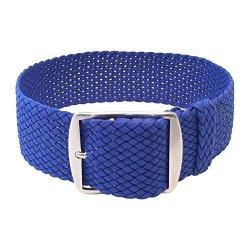 Wrist And Style Perlon Watch Strap Light Blue 18MM