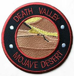 Death Valley Mojave Desert Patch 3.5 Inch Fully Embroidered Iron sew On Badge Usa Trek Applique