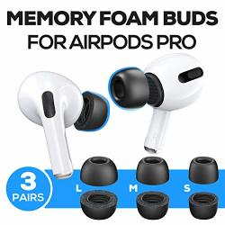 Proof Labs Memory Foam Ear Tips Accessories Compatible With Airpods Pro 3 Pairs S M L Buds