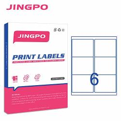 """Jingpo Shipping Labels 6-UP Fba Sku Printer Label Stickers 3-1 3"""" X 4""""FOR Laser ink Jet Printer 100 Sheets 600 Mailing Label"""
