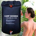 SumozTalk Camping Shower Bag - Camp Shower Bag - 20L Water Bag Foldable Solar Energy Heated Camp Pvc Shower Bag Outdoor Camping