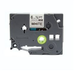 Brother Tz 211 Label Tape Laminated 6MM Blk wht 8M - Compatible