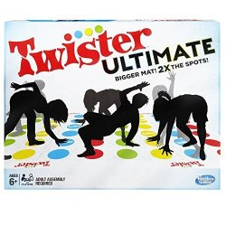 Twister Ultimate: Bigger Mat More Colored Spots Family Kids Party Game Age 6+ Compatible With Alexa Amazon Exclusive