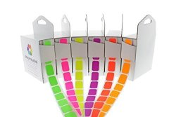 ChromaLabel 1 2 X 3 4 Inch Fluorescent Color-code Labels 6 Assorted Colors 500 DISPENSER Box