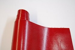 Leather Piece - Red Shallow Lizard Cow Hide Genuine Leather 16+ Sq. Ft.