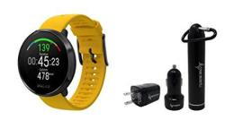Polar Ignite Waterproof Gps Fitness Watch With Advanced Wrist-based Heart Rate With Included WEARABLE4U Power Pack Bundle M l 155-210 Mm Yellow black