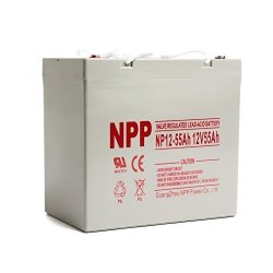 NPP 12V 55 Amp 55AH Rechargeable Agm Sla Battery With Button Style  Terminals | R | Watches | PriceCheck SA