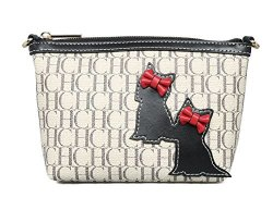 7f51ee143332 JollyChic Chch Pvc And Leather Cute Cat Crossbody Wallet Cell Phone Purse