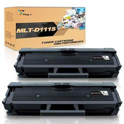 2 Pack MLT-D111S Compatible Black Toner Cartridge for Samsung Xpress M2020W M207