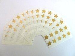 Minilabel 180 Labels 15MM Stars Colour Code Stickers Matt Gold