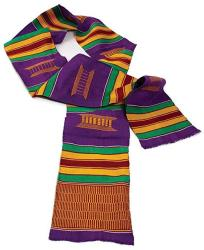 """60"""" X 4.5"""" Authentic Hand Woven Kente Stole Sash - Available In Several Color Combinations Kente"""