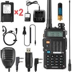 Ham Radio Walkie Talkie UV-5R 8-WATT Uhf Vhf Dual Band 2-WAY Radio With 2 Rechargeable 2100MAH Battery Handheld Walkie Talkies C