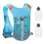 Triwonder Reflective Running Vest Hydration Vest Hydration Pack Backpack For Marathoner Running Race Cycling Blue - With 2 Water
