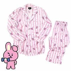 XUSHAN Kpop Bts Jimin V Pajamas Nightgown Tata Chimmy Cooky Cartoon  Sleepwear Loose Pajamas For Womens And Mens Cooky S | R | Fancy Dress &  Costumes |