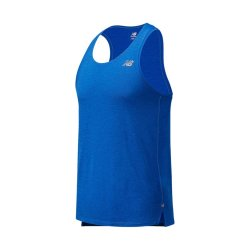New Balance Men's Impact Run Blue Singlet Vest
