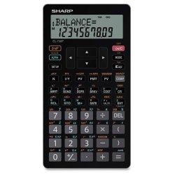 "Sharp Electronics Sharp 10-DIGIT Financial Calculator Lcd 3-1 4""X5-7 8""X1 2"" Bk EL-738FB"