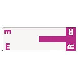 Smead SMD67156 - 67156 Purple Alphaz Ncc Color-coded Name Label - E R