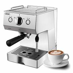 Espresso Machine Coffee Machine With 15 Bar Pump Powerful Pressure Coffee Brewer Coffee Maker With Milk Frother Wand For Cappucc