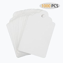 RonXer 1000 Pcs Price Tags Unstrung Marking Tags 1.75 X 1.1 Inches White Merchandise Tags For