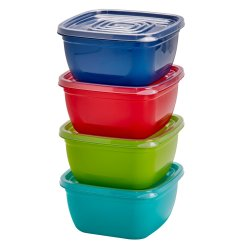 No Brand 4 Pce Square Storage Set Multi Colour