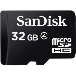 SanDisk 32gb Microsdhc Memory Card With Sd Adapter Class 4