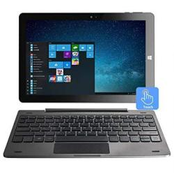 10.1 Inch Windows Tablet PC - Awow 2-IN-1 Touchscreen Laptop 4GB RAM 64GB With Intel Atom Z8350 Ips Display Dual Webcam Micro Sd