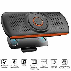 Bluetooth Hands Free Speakerphone For Cell Phone Wireless Car Kit Music Player Adapter With Back-clip Portable Speaker For Home