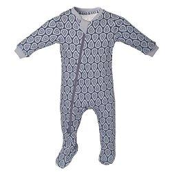 e67f4b24c5 Organic Zippyjamz Baby Footed Sleeper Pajamas W inseam Zipper Drip Drop  Dream 9-12 Months