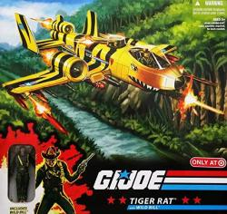 G.i. Joe 25TH Anniversary Exclusive Tiger Rat Vtol Fighter Plane With Wild Bill Action Figure