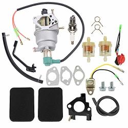 Hayskill 0G8442A111 Carburetor Carb For Generac GP5000 GP5500 GP6500 GP6500E 5KW 5.5KW 6.5KW 389CC Generator With Tune Up Kit Air Filter Fuel Line Spark