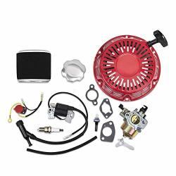 Kit For Honda GX340 GX390 Recoil Carburetor Ignition Coil Spark Plug Air Filter On-off Stop Switch