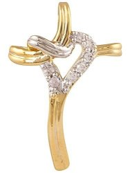Ananth Jewels 925 Silver Heart Shaped Valentine Pendant For Women