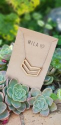 Mila Wooden 3 Strand Necklace - Nationwide Shipping Included