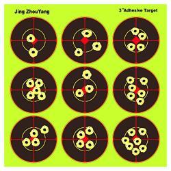 JingZhouYang Splatter Targets For Shooting - Reactive Bright Fluorescent Yellow Shot Marking - Airsoft Pellet Gun Rifle Shotgun