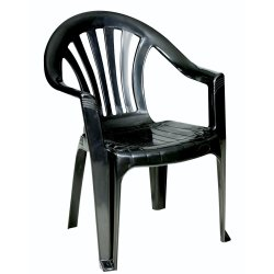CENPLAST - Ribbed Low Back Chair Black