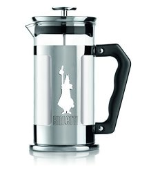 Bialetti 6860 Preziosa Stainless Steel 3-CUP French Press Coffee Maker Silver