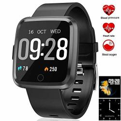 Feifuns Smart Watch Fitness Activity Tracker With Change Brightness Screen IP67 Waterproof Fit Watch Wristband Pedometer Watch With Heart Rate Sleep Monitor For Android