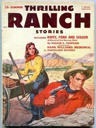Thrilling Ranch Stories Pulp Summer 1953-HANK Williams- Harvey Girls G vg