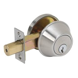 Tell Manufacturing Tell DB2051 32D Adj Ada Scc Satin Stainless Steel Single Cylinder Deadbolt Grade 2