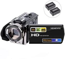 Camcorder Digital Video Youtube Vlogging Camera Recorder Full HD 1080P 15FPS 24MP 3.0 Inch 270 Degree Rotation Lcd 16X Digital Zoom Camcorder With 2 Batteries