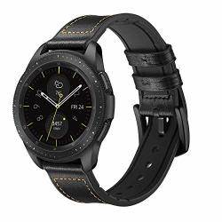Aimtel Compatible Samsung Galaxy Watch 42MM Bands 20MM Genuine Leather Strap Band Compatible Samsung Galaxy Watch SM-R810 SM-R81