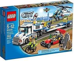 L.ego Lego City 60049 Helicopter Transporter Set New In Box Sealed. 382PCS