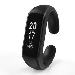 Bakeey L55S 0.87OLED Convertible Blood Pressure Hr Monitor Fitness Tracker Smart B