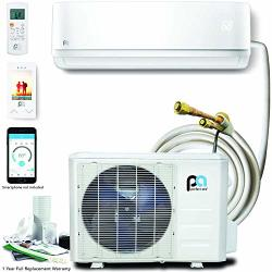 DIY Perfectaire 12 000 Btu 17.5 Seer Quick Connect Ductless Mini-split Heat Pump W wifi - 115V