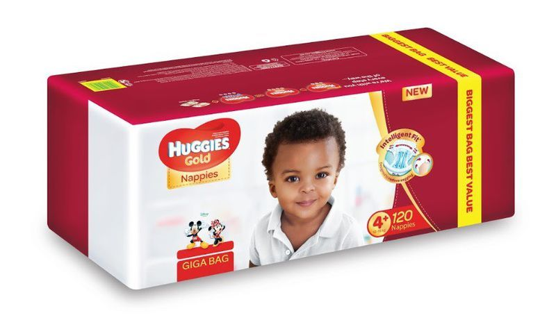 Huggies Gold 120 Nappies Size 4+ Giga Bag