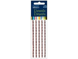 Mark Richards Enterprises, Inc Mark Richards Elements Crystal Stickers 1661 Self-adhesive 120-PIECE Round Rhinestones Crystal Sticker Strips 3MM Red