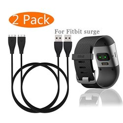 KingAcc Fitbit Surge Charger Replacement USB Charging Cable For Fitbit  Surge Fitness Superwatch 2-PACK 3 3FOOT | R475 00 | Handheld Electronics |